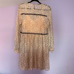 ASOS Two Piece Pink Longsleeve Dress